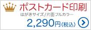 ポストカード印刷|はがきサイズ/片面フルカラー|2,290円(税込)